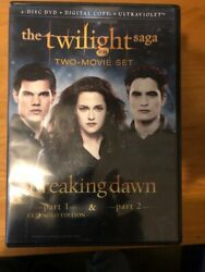 The Twilight Saga Breaking Dawn Part 1 And 2 Two-movie Set Dvd New Open Box
