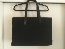 Nwot Coach Black Structured Nylon Tote With Laptop/tablet Sleeve.