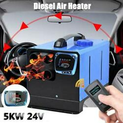 24v 5kw Diesel Air Heater 4 Holes All In One Lcd Monitor For Trucks Boats Bus Us