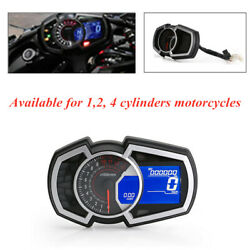 Universal Motorcycle 12v Lcd Screen Instrument Hd Standard For 1,2,4 Cylinders