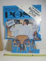 Nos 1961 Saturday Evening Post Norman Rockwell Plycraft Chair Easelback Sign