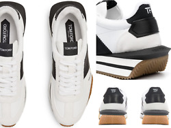 Tom Ford James Appleskin™ Leather Suede Mix Low Top Sneakers Shoes New 44