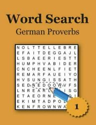 Word Search - German Proverbs Paperback By Hummel Karl Like New Used Free...