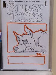 Stray Dogs 1 Tone Rodriguez Background Artist Raw Sketch Cover Art Nm