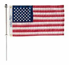 Taylor Made Products 916 Aluminum Boat 3/4-inch Flag Pole With Charlevoix Cli...