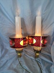 Pair Of Budweiser King Of Beers Lighted Wall Sconce Lamps