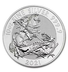 2021 10 Oz. Queen Beasts And039dragonand039 9999 Fine Silver- ✅ In-hand ✅ Fast Shipping