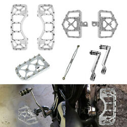Wide Mx Style Floorboard Brake Pedal Cover Shift Lever Linkage Fit For Harley