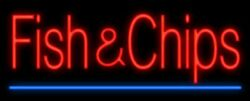 New Fish And Chips Artwork Real Glass Neon Sign 32x24 Beer Lamp Light