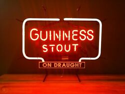 Guinness Stout On Tap Neon Light Sign 32x24 Lamp Poster Beer Bar