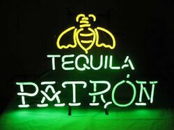 Patron Tequila Neon Light Sign 32x24 Lamp Poster Real Glass Beer Bar