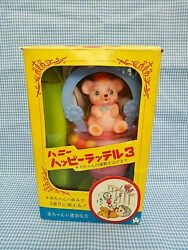 Vintage Celluloid Baby Happy Rattle Toy Japan 10in