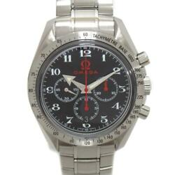 Omega Speedmaster Broad Arrow Watch Menand039s 3358.50 Automatic Black Ss Used