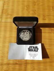 Star Wars 2006 Disney Weekends One Troy Ounce Silver Coin Mip Le 102/500