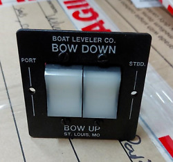 Boat Leveler Co Waterproof Trim Tab Switch - Black/white Buttons P/n 12725