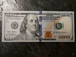 One Star Note One Hundred Dollar Bills 100 Nice Circulated 2009, Real Money