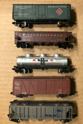 Lot Of 5 N Scale Rolling Stock Freight Cars Atlas Con-cor Bachmann Micro Trains