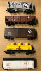 Lot Of 5 N Scale Rolling Stock Freight Trains/cars Atlas Con-cor