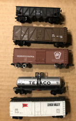 Lot Of 5 N Scale Rolling Stock Freight Trains/cars Bachmann Micro Con-cor