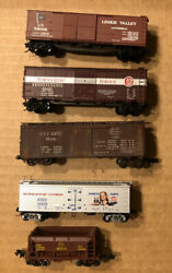 Lot Of 5 N Scale Rolling Stock Freight Trains/cars Con-cor Atlas Micro Trains