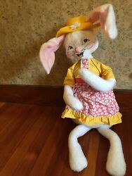 Annalee Easter Girl Bunny 30 2010 White Spring Dress Rabbit New W/tags Huge