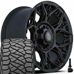 18in 4play Wheel Set For Ford Chevy Gmc And 275/65r18 Ridge Grappler 4ps60