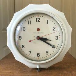 Vintage General Electric New Hostess Wall Clock Mid Century Bottle Cap Red Dot