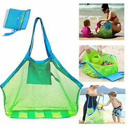 SupMLC Mesh Beach Bag Extra Large Beach Bags and Totes Tote Backpack Toys $14.22