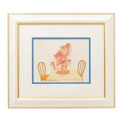 Flet And039s Frelengue Friz Freleng Pink Spaghetti With Panther Rare Cell Paintings