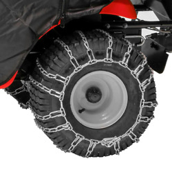 Tractor Tire Chains 20 X 8 In. Wheels Stainless Steel Heavy Duty Chain 2-pcs
