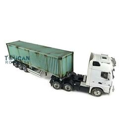1/14 Rc Hercules Tractor Truck 40ft Metal Chassis Semi-trailer Painted Container