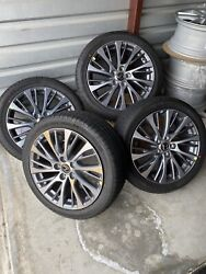 18 Lexus Es350 Wheel Rims Factory Oem 74376 With Michelin Tires And Center Caps