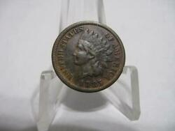Very Rare 1865  Indian Penny Exf Condition Very Rare Coin Nfm1160