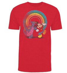 Disney Parks Yester Ears Vintage Epcot Figment And Mickey Limited Edition Shirt