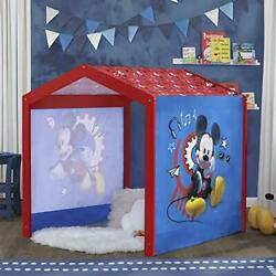 Delta Children Disney Mickey Mouse Indoor Playhouse With Fabric Tent For Boys...