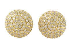2.00ct Natural Round Diamond 14k Solid Yellow Gold Butterfly Lock Stud Earring
