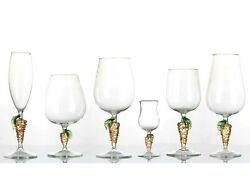 Set 36 Pieces Glasses Glass Of Murano Stem Glasses Handmade In Italy