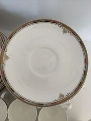 60 Pieces Of Mikasa Crown Jewel Color Ak010 Cups Plates And Creamer