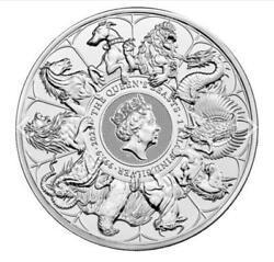 ✅ In-hand ✅ Fast Shipping 1 Kilo 32.15oz Queen Beasts Completer 9999 Fine Silver