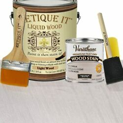 Retique It Liquid Wood - Gallon Light Wood W/antique White Stain-stainable Wo...