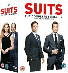 Suits The Complete Collection Series Dvd Seasons 1-9 Box Set Brand New