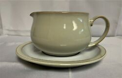 Denby Linen Gravy Boat And Stand - Brand New With Tags - Discontinued Item