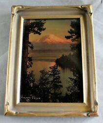 Goldtone-sunand039s Last Glow- Nw Photographer Norman Edson In Original Batwing Frame