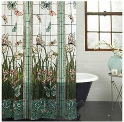 Mainstays Stained Glass Meadow Peva Shower Curtain 70 X 72 Multi Color