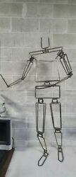 Rare Vintage 1960s Rod Iron Articulating Mannequin Store Display