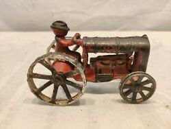 Rare Vintage Antique 1930's Arcade Fordson Cast Iron Toy Tractor 4nice Piece.
