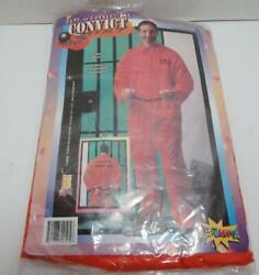 New Halloween Costume Convict Dept. Of Corrections One Size Fits All
