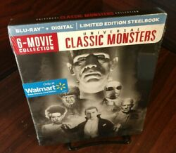 Universal Classic Monsters 6-movie Collection Steelbook Blu-ray+digital New