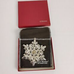 1984 Gorham Sterling Christmas Snowflake Ornament Great Condition W/ Bag