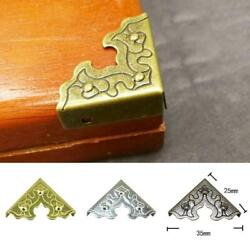 25mm Antique Wooden Case Corner Protector For Furniture Metal Crafts Jewelr New